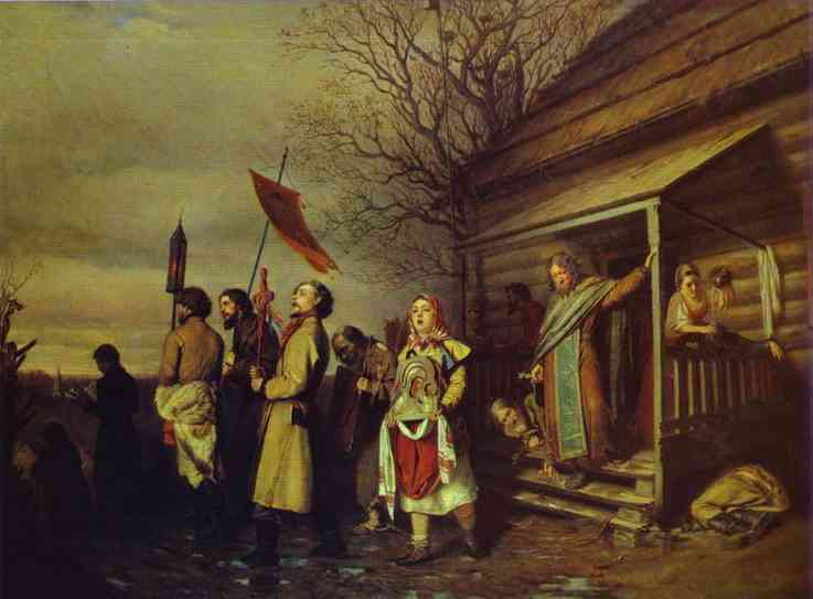 Easter Procession In A Village 1861 | Vasily Perov | oil painting