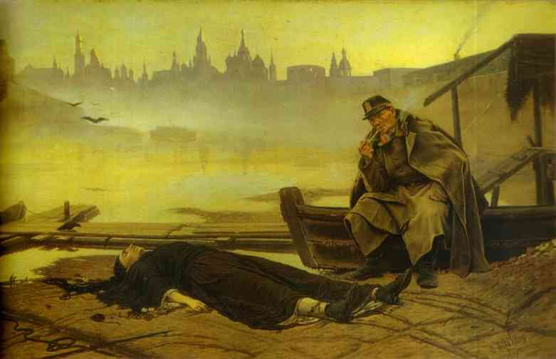 Found Drowned 2 1867 | Vasily Perov | oil painting