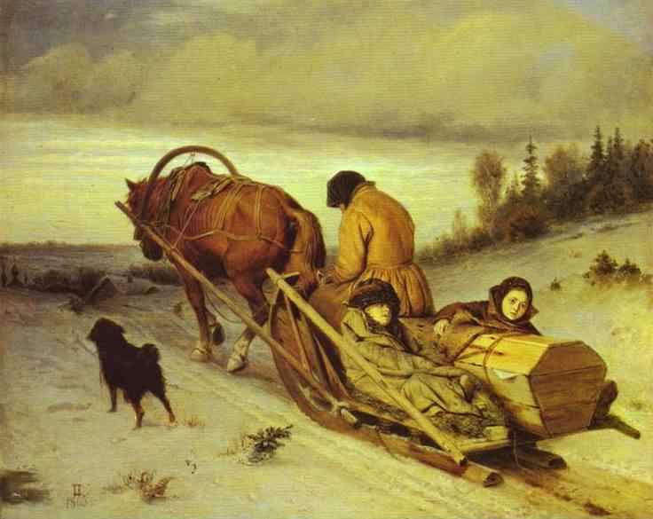 Last Journey 1865 | Vasily Perov | oil painting