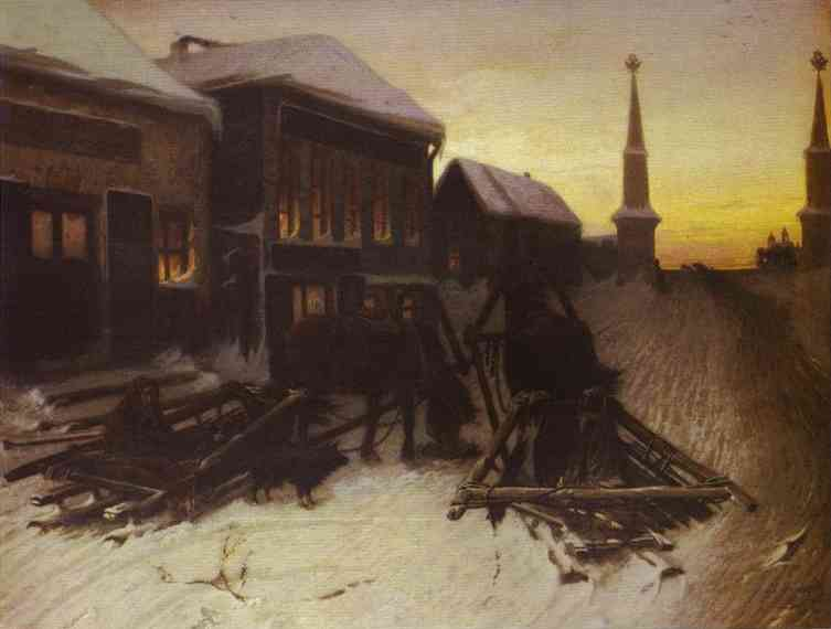 Last Tavern At Town Gate 1868 | Vasily Perov | oil painting