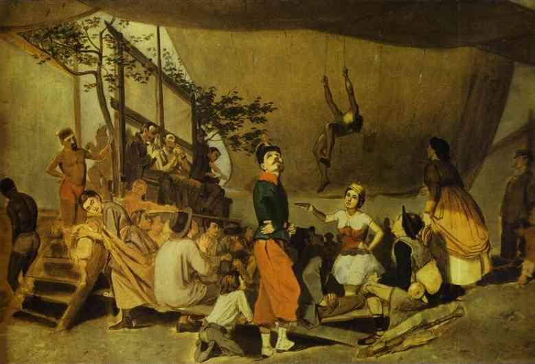 Merrymaking In Paris Sketch 1863-64 | Vasily Perov | oil painting