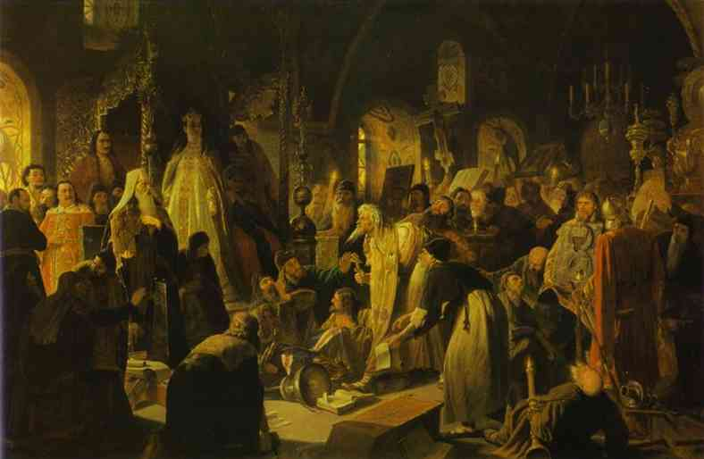 Nikita Pustosviat Dispute On The Confession Of Faith 1880-81 | Vasily Perov | oil painting