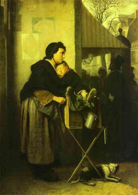 Organ Grinder In Paris 1864 | Vasily Perov | oil painting
