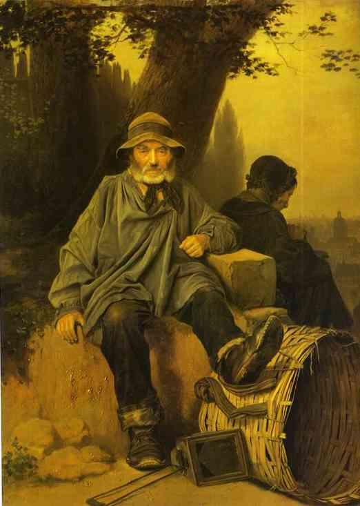 Paris Ragpickers 1864 | Vasily Perov | oil painting