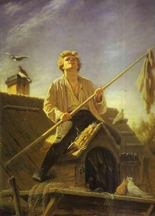 Pigeon Fancier 1874 | Vasily Perov | oil painting