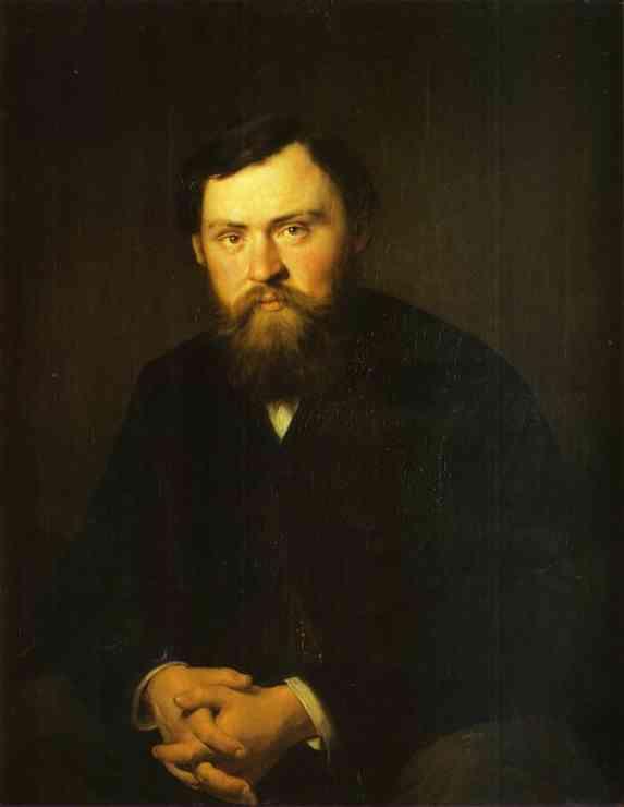 Portrait Of Alexander Borisovsky 1869 | Vasily Perov | oil painting