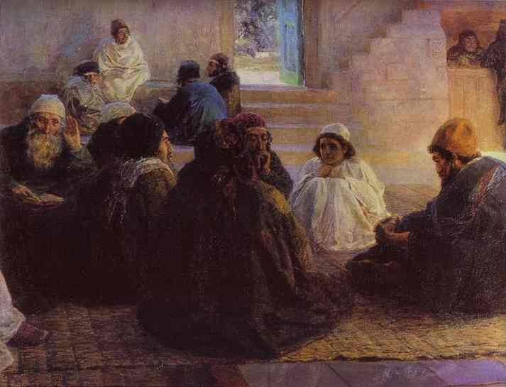Among The Teachers From The  Series The Life Of Christ 1896 | Vasily Polenov | oil painting
