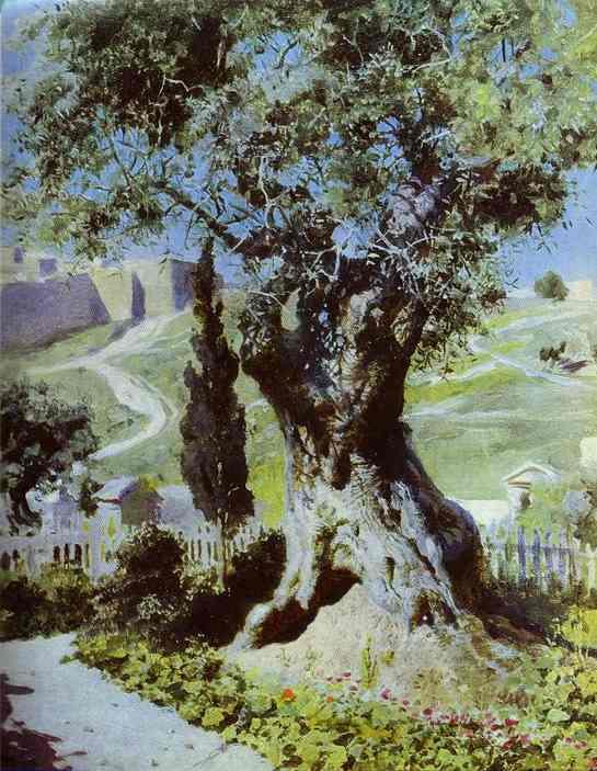 An Olive Tree In The Garden Of Gethsemane 1882   Vasily Polenov   oil painting