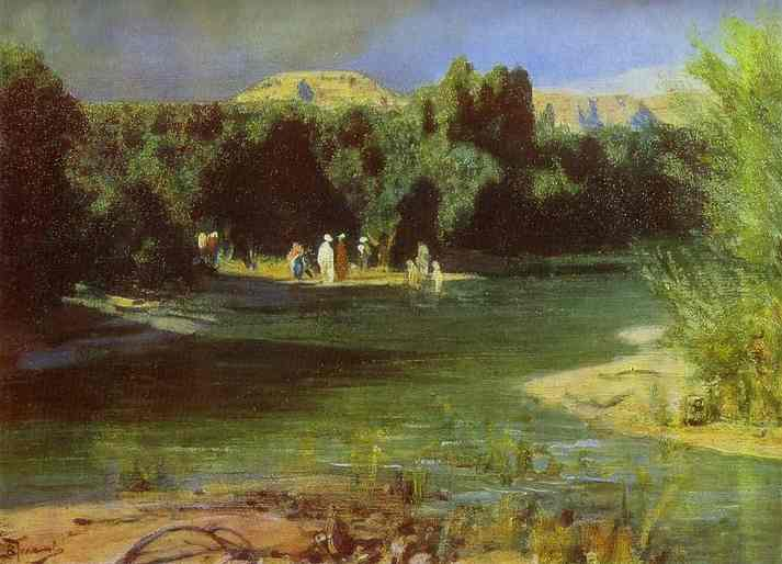 Baptism From The Series The Life Of Christ | Vasily Polenov | oil painting