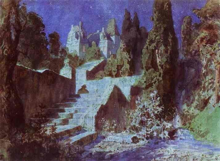 Castle Sketch For The Scenery 1883 | Vasily Polenov | oil painting