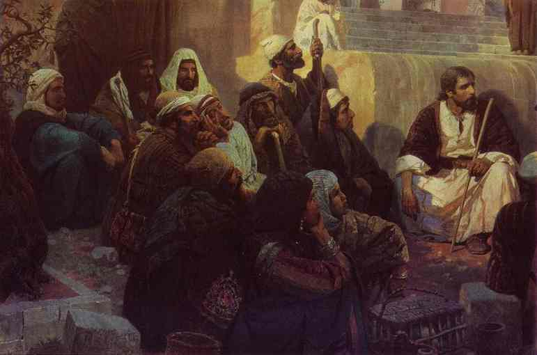 Christ And Woman Taken In Adultery (Detail) 1886-1887 | Vasily Polenov | oil painting