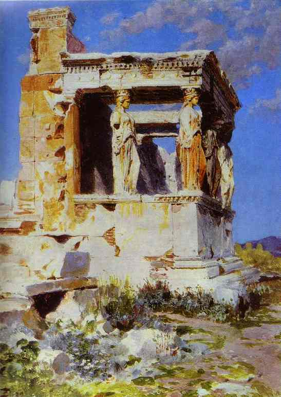 Erechteion 1882 | Vasily Polenov | oil painting