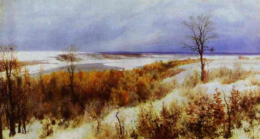 First Snow Study 1891 | Vasily Polenov | oil painting