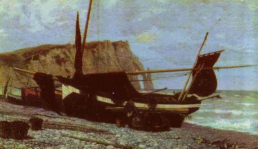 Fishing Boat Etretat Normandy 1874 | Vasily Polenov | oil painting