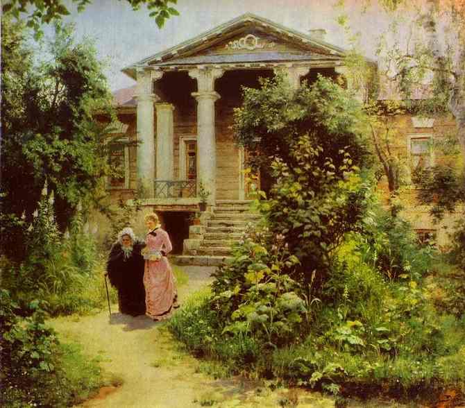 Grannys Orchard 1878 | Vasily Polenov | oil painting