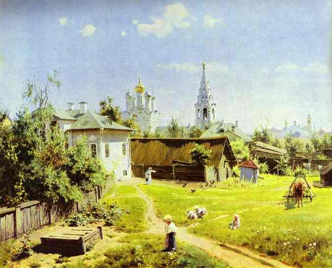 Moscow Backyard 1878 | Vasily Polenov | oil painting