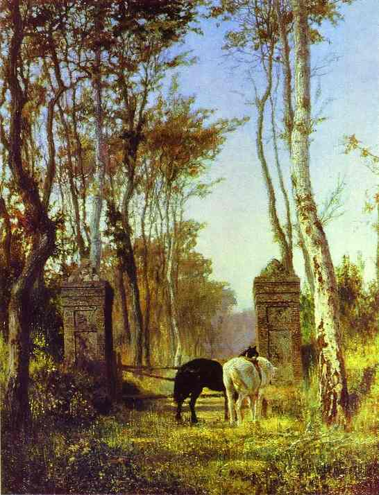 Old Gates Normandy 1875 | Vasily Polenov | oil painting