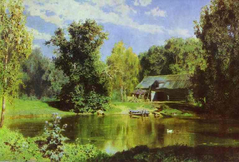 Pond In Abramtzevo 1883 | Vasily Polenov | oil painting