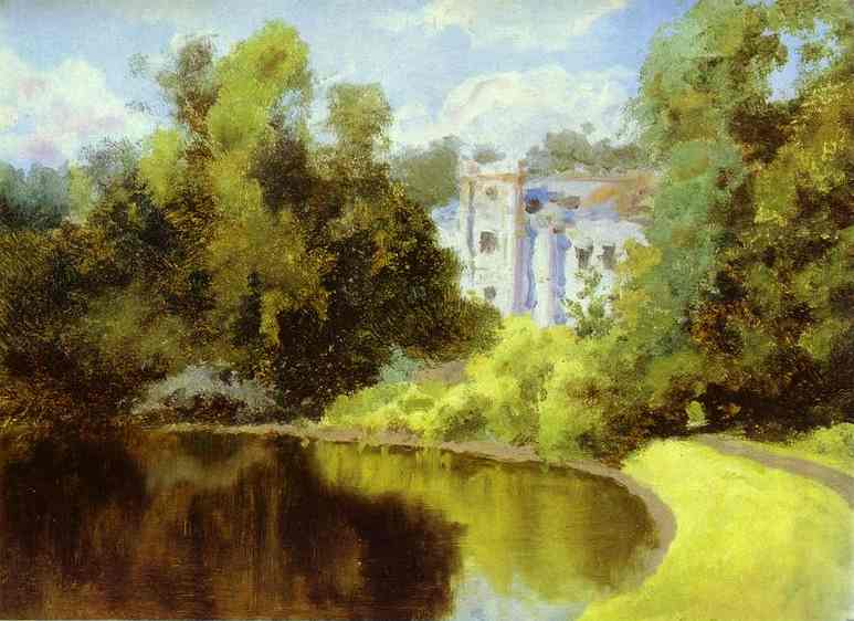 Pond In The Park Olshanka 1877 | Vasily Polenov | oil painting