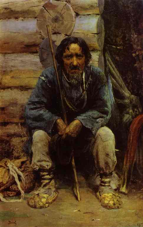 Portrait Of The Narrator Of The Folk Tales Nikita Bogdanov 1876 | Vasily Polenov | oil painting