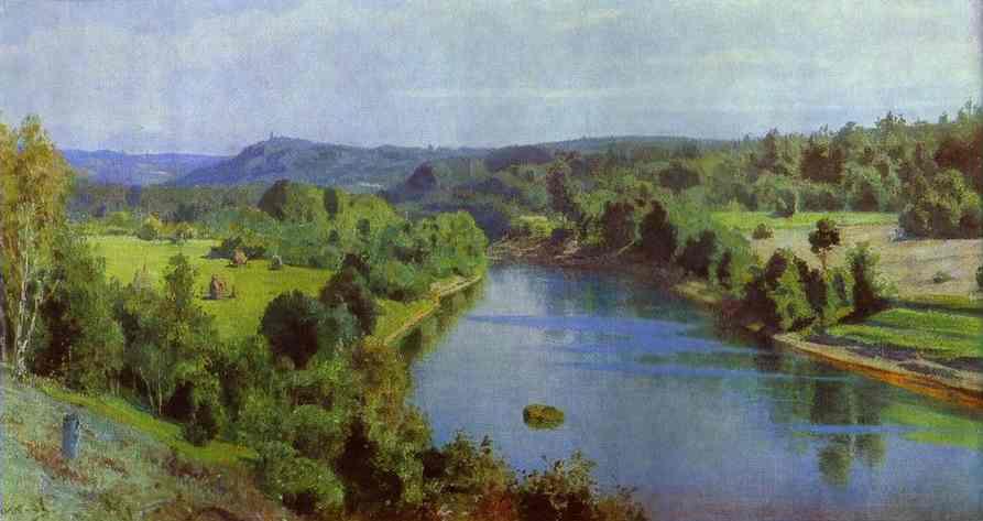 The River Oyat Study 1880   Vasily Polenov   oil painting