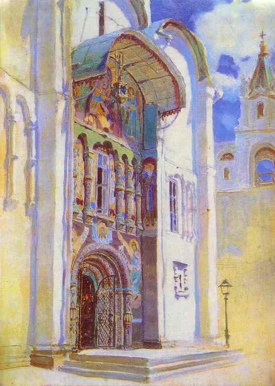 The Uspensky Cathedral South Gates 1877 | Vasily Polenov | oil painting