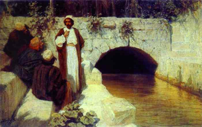 What People Think About Me From The Series The Life Of Christ 1900 | Vasily Polenov | oil painting