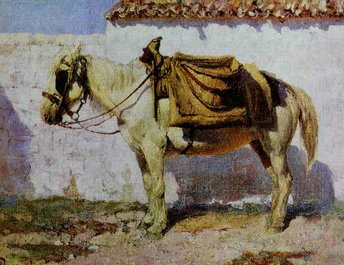 White Horse Normandy 1874 | Vasily Polenov | oil painting