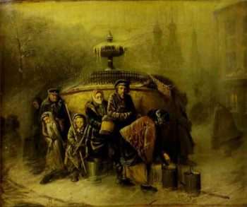 Queue To A Reservoir 1865 | Vasily Polenov | oil painting