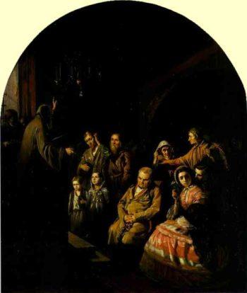 Sermon In A Village 1861 | Vasily Polenov | oil painting