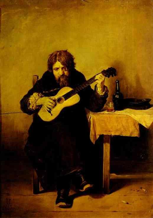 Solitary Guitarist 1865   Vasily Polenov   oil painting