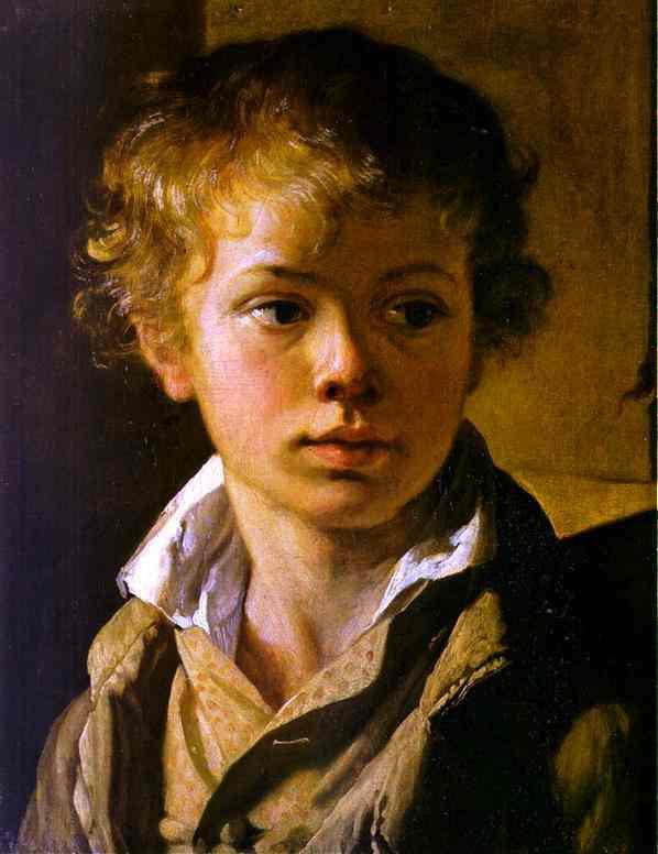 Head Of A Boy Portrait Of Av Tropinin 1818 | Vasily Tropinin | oil painting