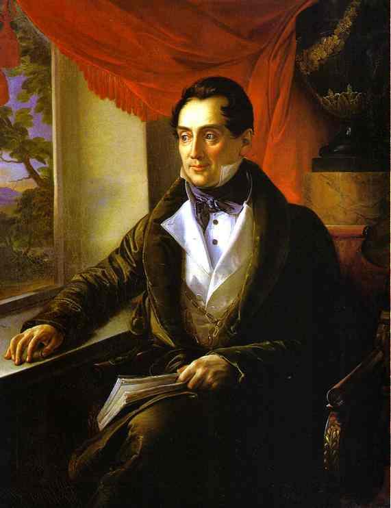 Portrait Of PN Zubov 1839 | Vasily Tropinin | oil painting
