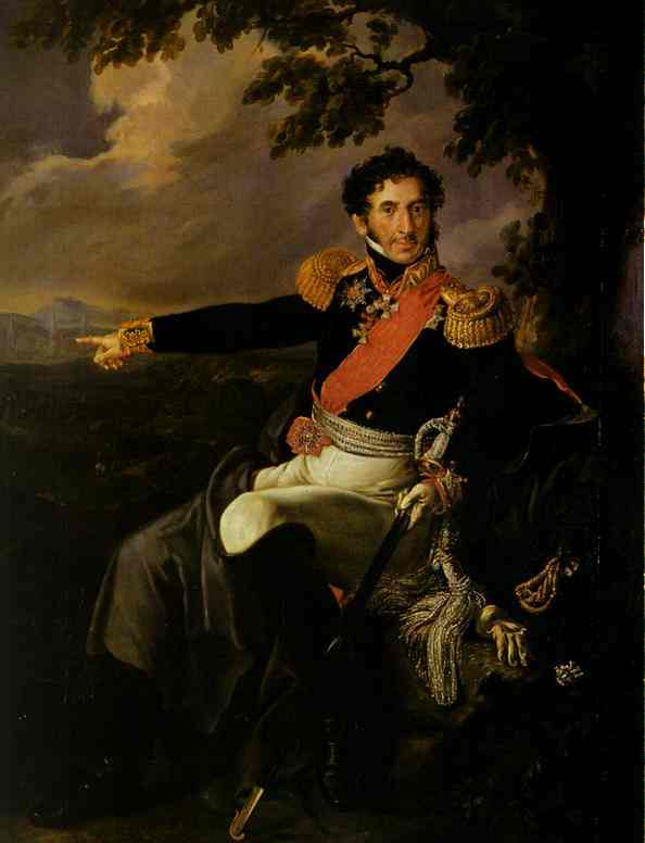 Portrait Of The Prince Pi Bagration 1815 | Vasily Tropinin | oil painting