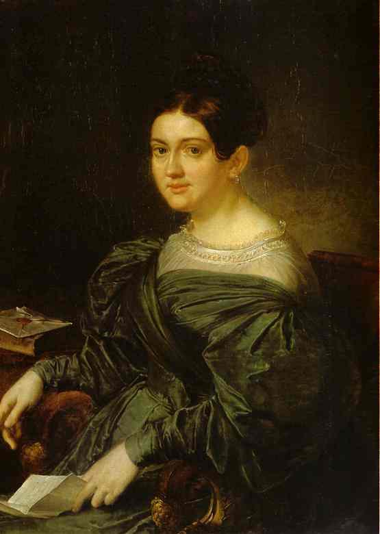 Portrait Of The Writer In Kozhina 1836 | Vasily Tropinin | oil painting