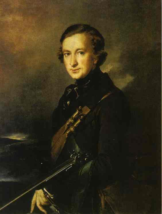 Portrait Of YU F Samarin In The Hunting Dress 1846 | Vasily Tropinin | oil painting