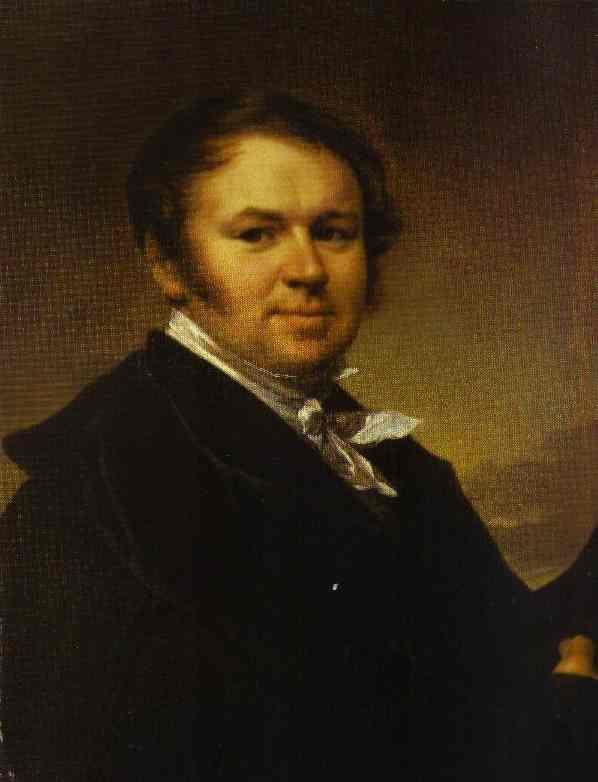 Self Portrait 1830s | Vasily Tropinin | oil painting
