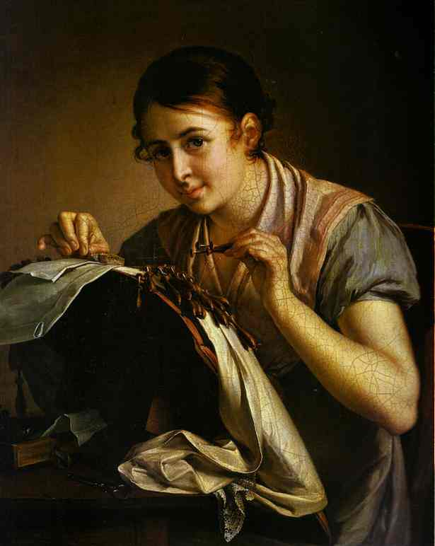 The Lace Maker 1823 | Vasily Tropinin | oil painting