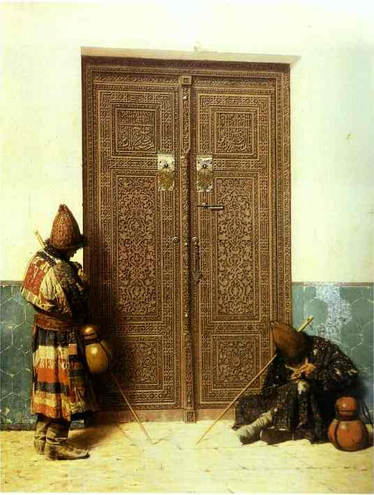 At The Door Of A Mosque 1873 | Vasily Vereshchagin | oil painting