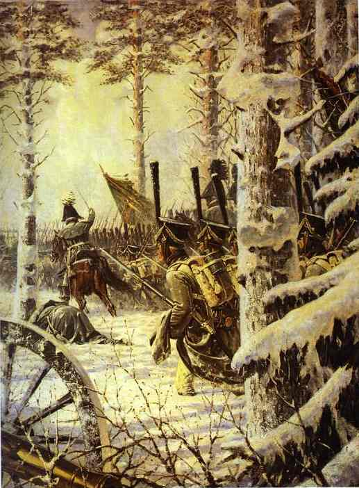 Bayonet Charge 1887-1895 | Vasily Vereshchagin | oil painting