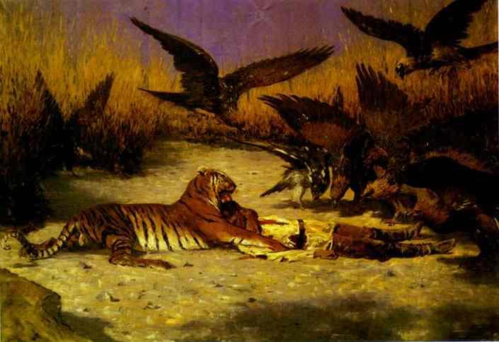 Cannibal 1870s-1880s | Vasily Vereshchagin | oil painting