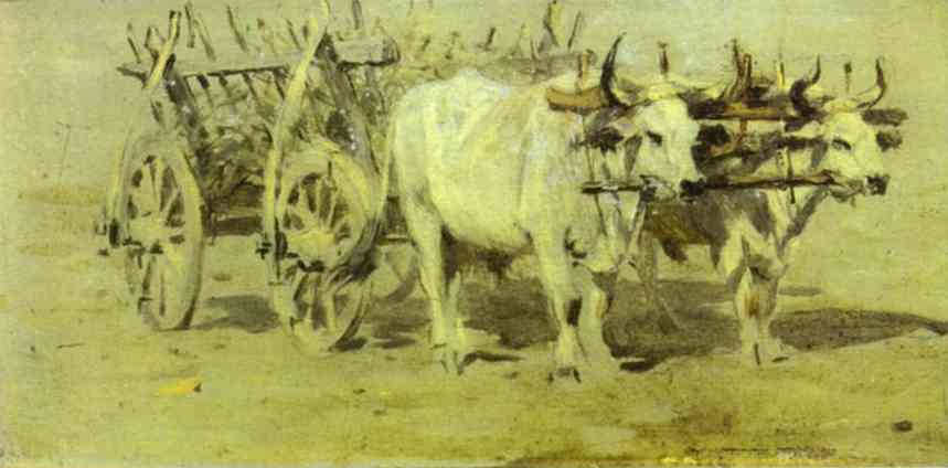 Cart For The Wounded 1877 | Vasily Vereshchagin | oil painting
