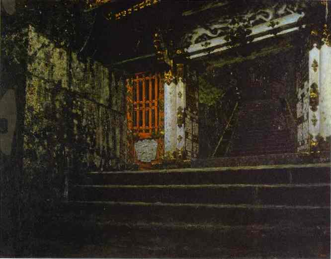 Entrance To A Temple In Nikko | Vasily Vereshchagin | oil painting