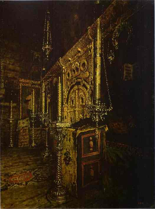 Iconostasis Of The Church Of St John The Evangelist On The Ishna Near Rostov Yaroslavsky 1888 | Vasily Vereshchagin | oil painting