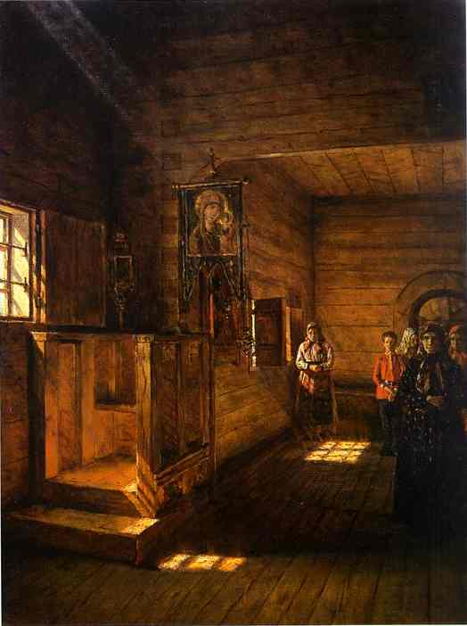 Interior Of The Church Of St John The Evangelist On The Ishna Near Rostov Yaroslavsky | Vasily Vereshchagin | oil painting