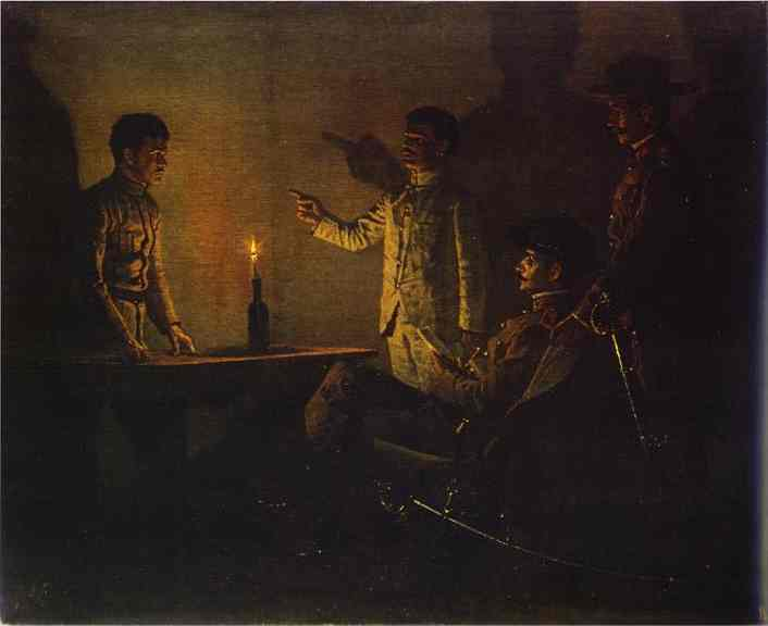 Interrogation Of A Deserter 1901 | Vasily Vereshchagin | oil painting