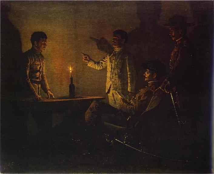Interrogation Of A Deserter 1901 | Vasily Vereshchagin | oil painting