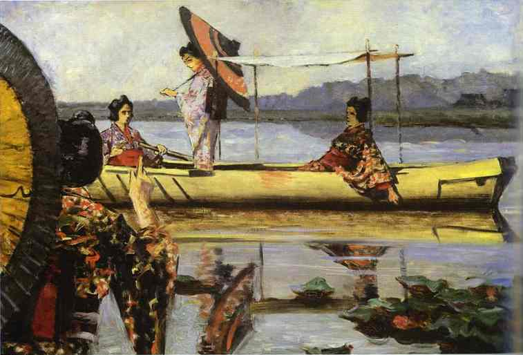 In A Boat | Vasily Vereshchagin | oil painting