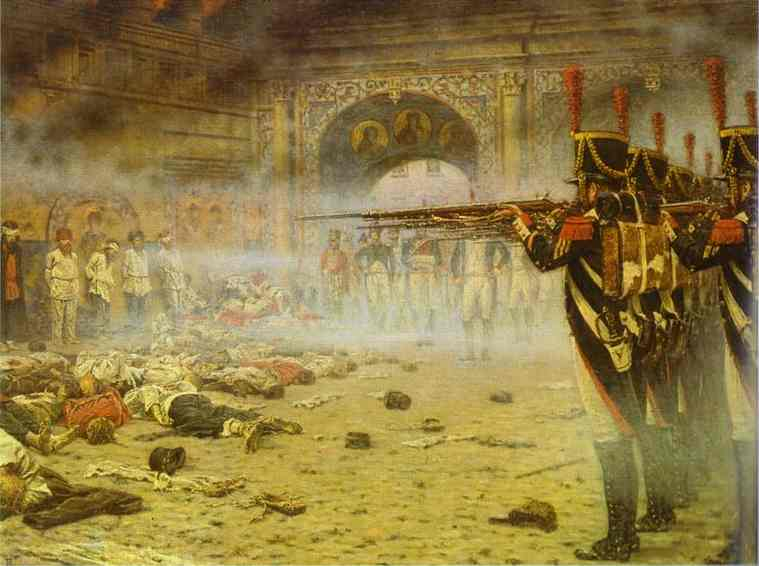 In Defeated Moscow (Arsonists Or Shooting In The Kremlin) 1897-1898 | Vasily Vereshchagin | oil painting