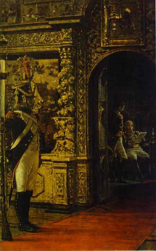 Marshal Davout In The Chudovo Convent 1900 | Vasily Vereshchagin | oil painting
